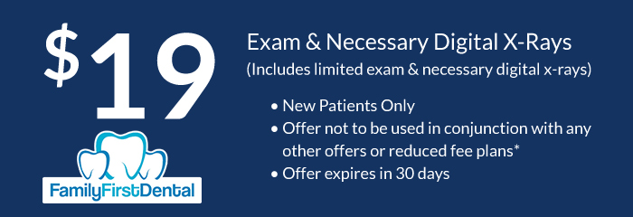 exam and necessary digital x-rays coupon